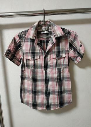 Рубашка на мальчика 10 лет 140 см*