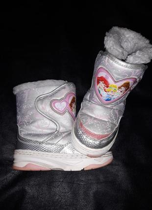Термо сапоги сапожки обувь зима дисней disney принцессы 17,5 см.