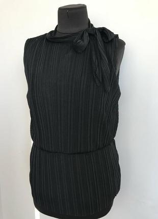 Шифоновая блуза гофре без рукавов топ 48