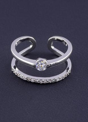 Кольцо 'big dipper' фианит (родий) 0562650