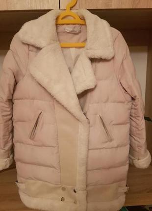 Стильна зимова куртка-авіатор, косуха