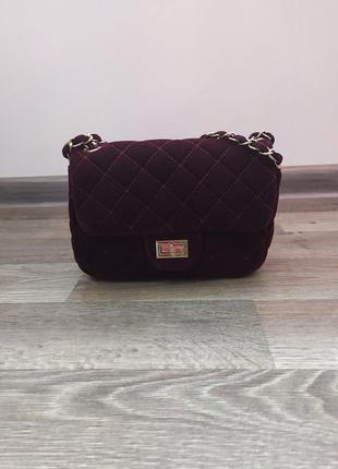 Маленька темно-вишнева сумка
