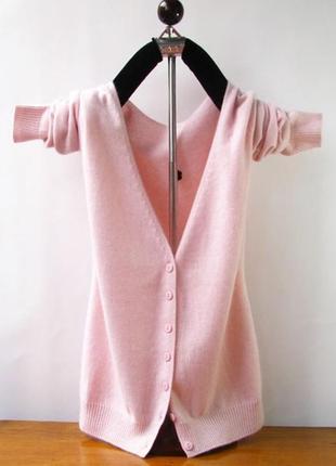Розовый кашемировый кардиган
