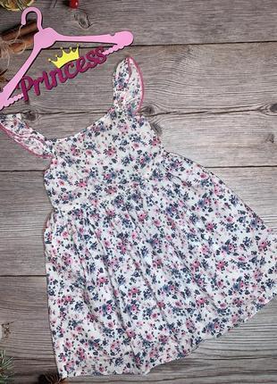 Летнее легкое платье хб в цветы