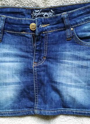 💙 мини юбка джинсовая, р.29, 💯%cotton, от dolce&gabbana