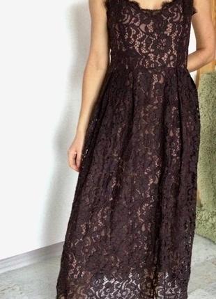 Кружевное крутое платье h&m