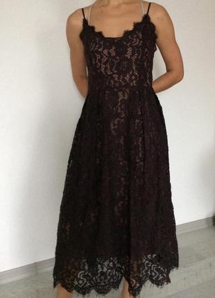 Кружевное крутое платье h&m2 фото