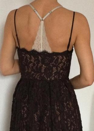 Кружевное крутое платье h&m3 фото