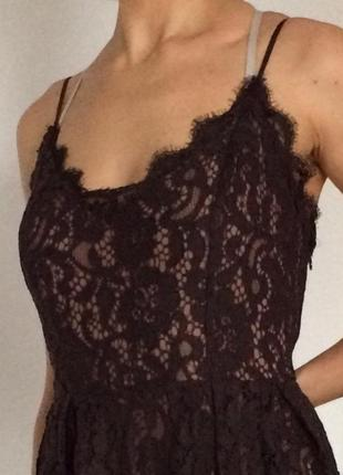 Кружевное крутое платье h&m6 фото