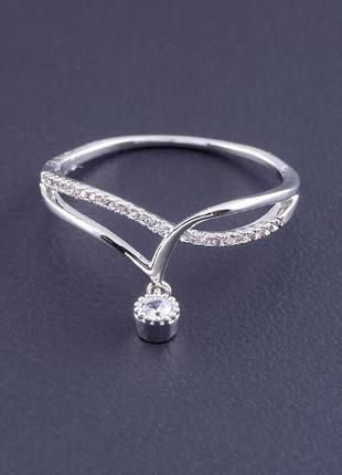 Кольцо фианит (серебро) 0715130