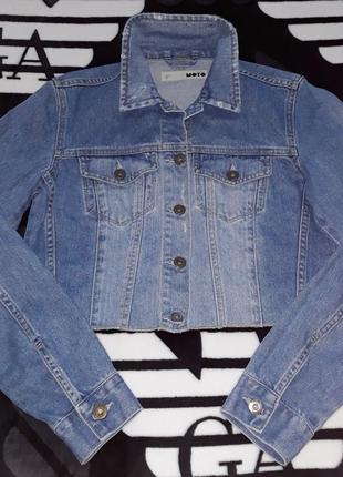 Джинсовый пиджак куртка фирма topshop moto