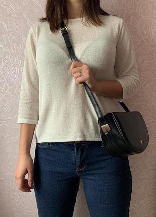 Кросс-боди черного цвета, сумочка через плечо на длинном ремешке