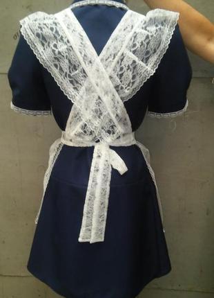 Форма школьная ссср с фартуком 40-42 выпускница ретро4 фото