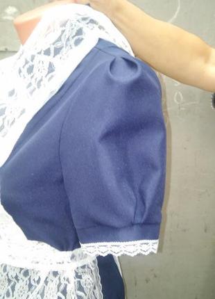Форма школьная ссср с фартуком 40-42 выпускница ретро5 фото