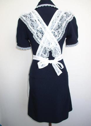 Форма школьная ссср с фартуком 40-42 выпускница ретро2 фото