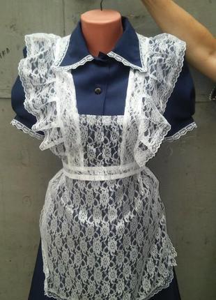Форма школьная ссср с фартуком 40-42 выпускница ретро3 фото