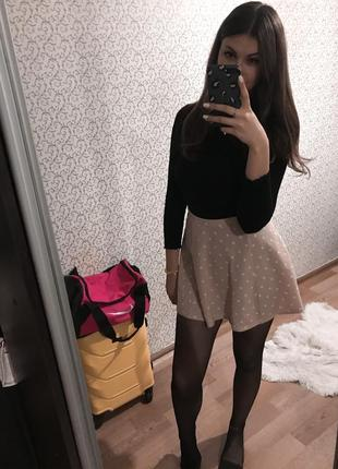 Розовая юбка в сердечко