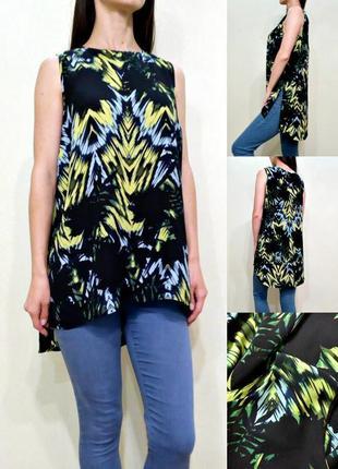 Лёгкая блуза с удлиненной спинкой и разрезами по бокам 12