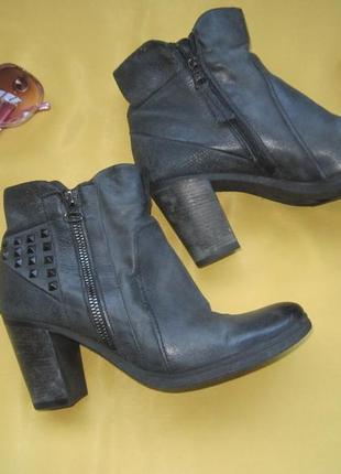 Качественные ботинки из нубука,р.38,jin walking,отличное состояние