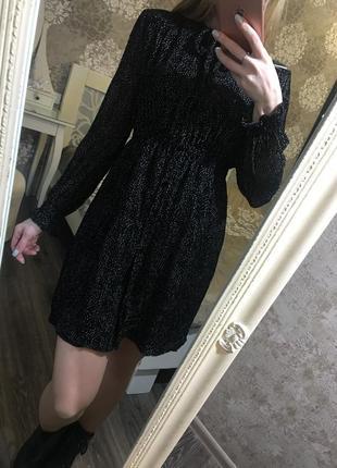 Платье zara из бархата