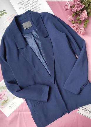 Актупльний піджак вільного крою minimum синього кольору  з підкладом❤