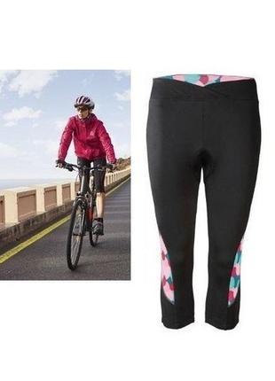 Новые женские велосипедные капри с памперсом  для велоспорта crivit, размер евро хs 32/34