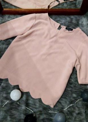 Блуза кофточка свитшот с фигурным низом new look