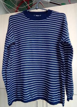 Женский свободный свитер джемпер mango р. s-m оверсайз