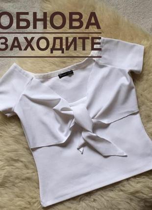 Белая блузка топ та завязках zara