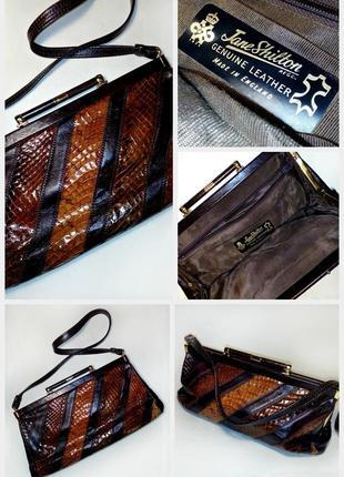 🔴🔴эксклюзив винтажная маленькая сумка/клатч/кросс-боди/винтаж/кожа змея/питон🔴🔴