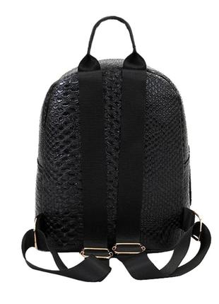 Рюкзак городской эко кожа экокожа черный змеиная фактура новый5 фото