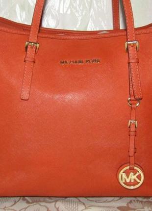 -michael kors- большая сумка 100% кожа сафьяно номер