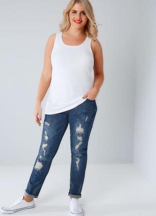 Стрейчевые джинсы скинни 28/64-66 размера с нюансом
