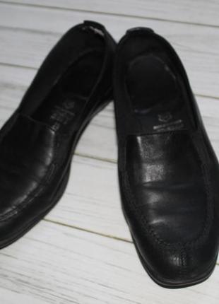 Макасины, ботинки, очень удобные, чёрные, кожаные 39 р. go soft