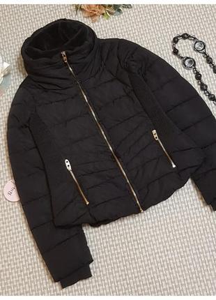 Куртка пуховик zara/стеганная куртка/короткая