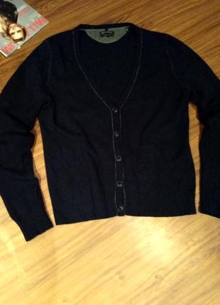Шерстяная темно-синяя кофта размер xl marc o'polo