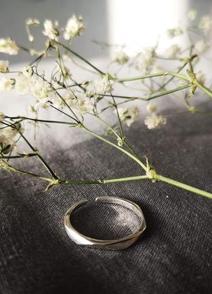 Граненое кольцо из серебра