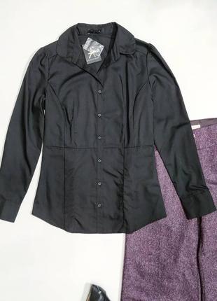 ❤️классическая черная рубашка p.6 и 10