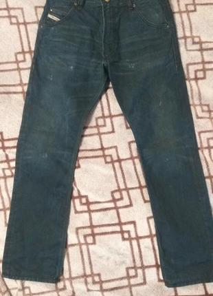 Брюки джинсовые оригинал diesel krooley 31/32.