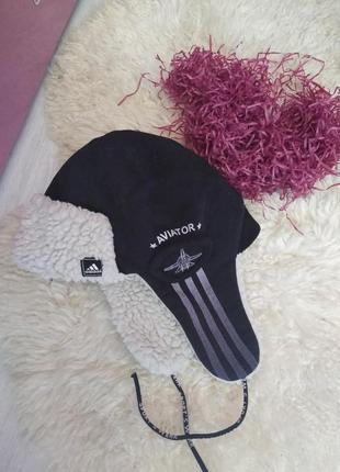 Крутая шапка,ушанка aviator,adidas, недорого