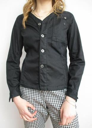 Куртка жакет джинсовая черная 44