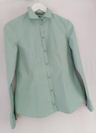 Рубашка из плотного хлопка красивый мелкий принт