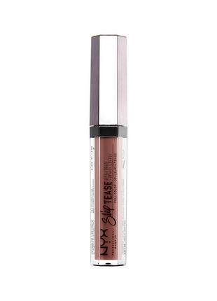 Помада-лак для губ nyx slip tease lip lacquer, оттенок chic appeal 23