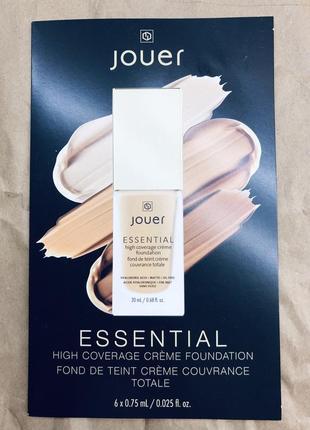 Jouer набор пробников тональной основы essential high coverage crème foundation