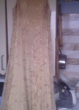 Вечернее платье с шалью