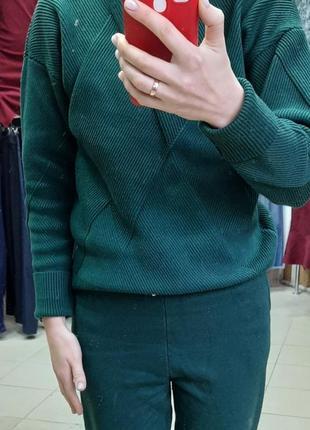 Костюм вязка зелёный размер универсал