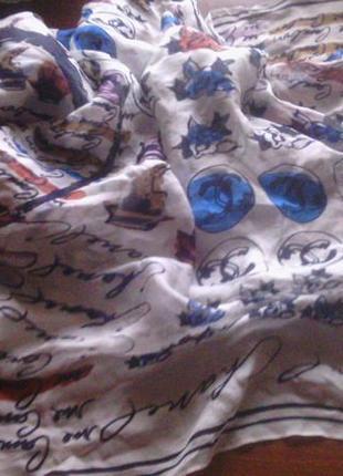 Шаль-шарф chanel  шелковая