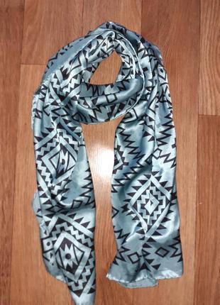 Красивый шелковый шарф палантин 100% шелк passigatti