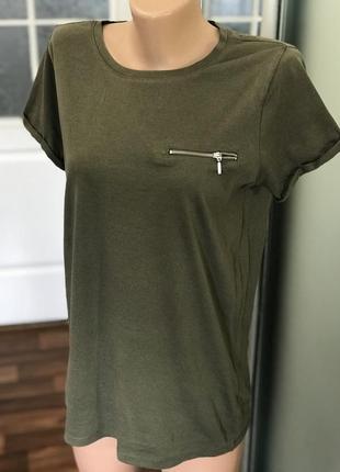 База баковая футболка женская хаки