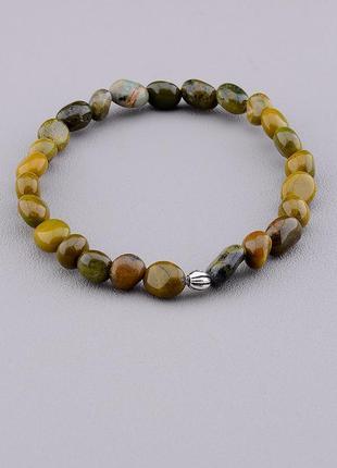 Браслет 'sunstones' яшма 18 см. серебро(925) 0698710
